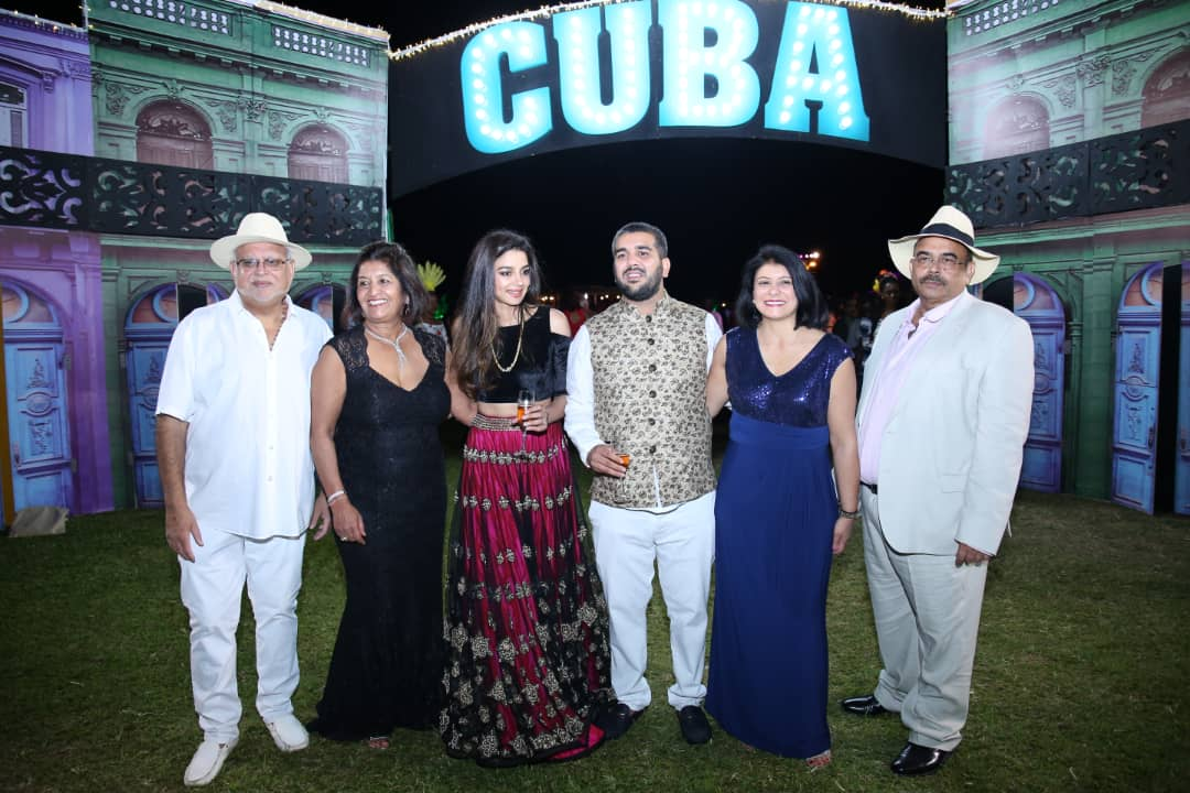 Rajiv Ruparelia wedding anniversary at the Cuban theme