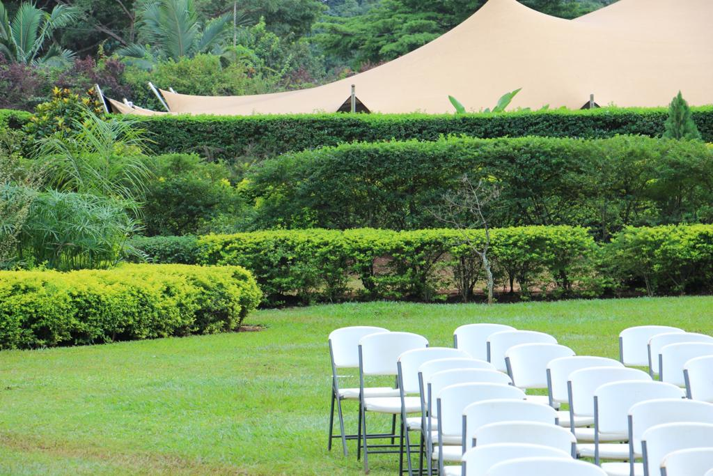 Seven 7 trees gardens Kololo wedding and kwanjula venue in Kampala Uganda set up