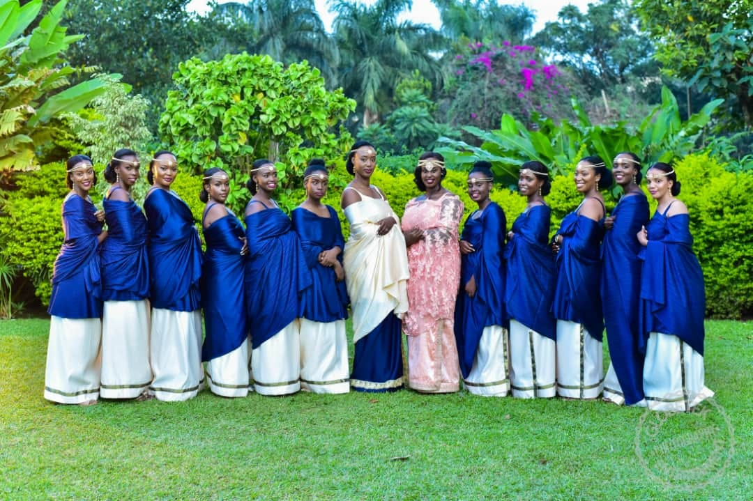 Vanessa with her bridesmaids at Vanessa and Brian's Kuhingira