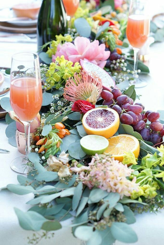 fruits and vegetable wedding decor theme centerpiece decor, wedding decor with fruits