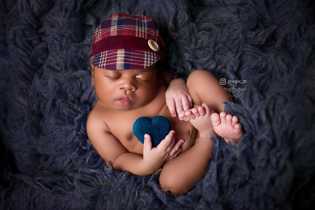Diamond platnumz's baby Naseeb Jr rocking a photoshoot