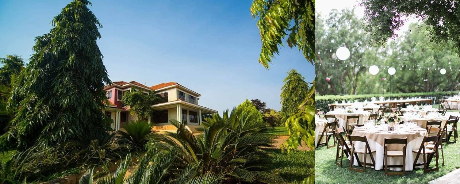 Victoria estate bwerenga villas outdoor wedding venues in Kampala Uganda